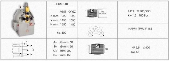 giętarka CRM140 dane