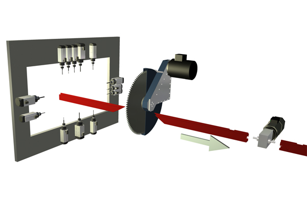 ALBZ-100/100L - centrum przelotowe obróbczo tnące do aluminium