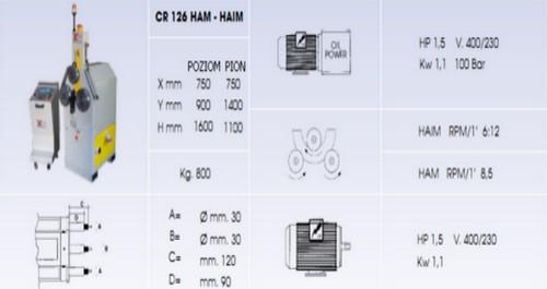 giętarka HA120 dane